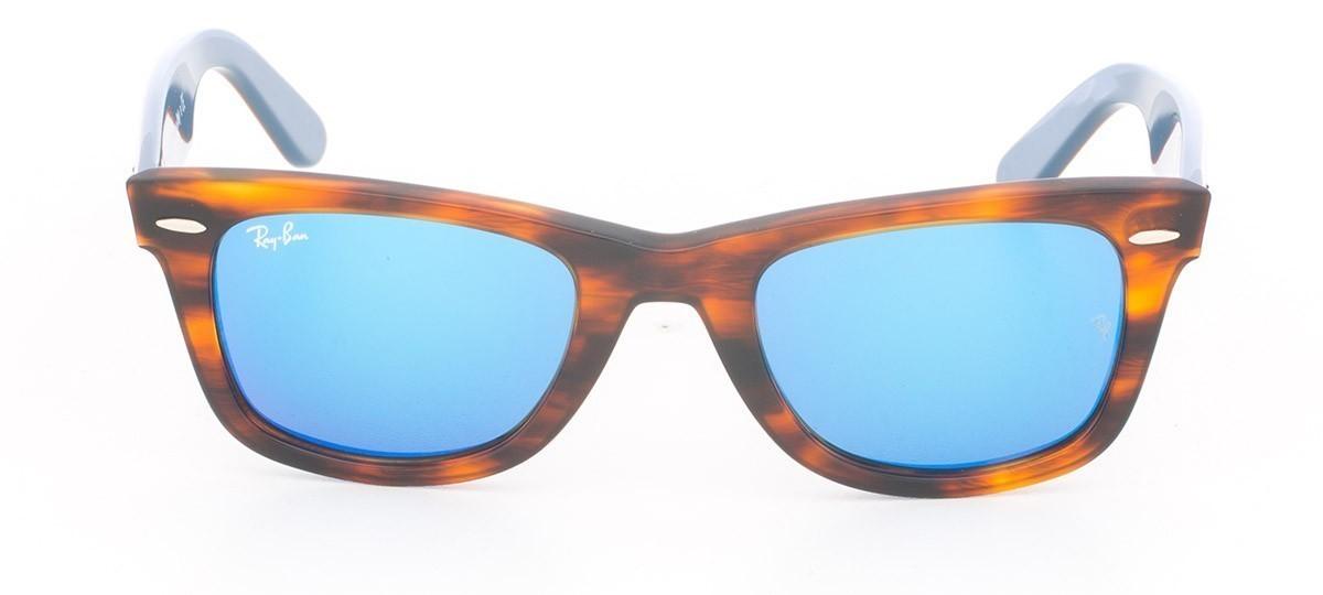 Óculos de Sol Ray-Ban Wayfarer RB 2140 Espelhada Azul e Havana listrado 50 ed9cad2922