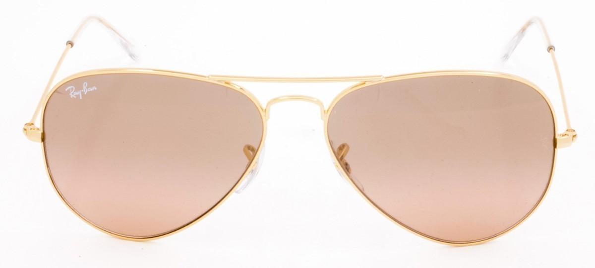 Óculos de Sol Ray-Ban Aviator RB 3025 Lente Rosa Semi Espelhada Prata e  Dourado 55 4309668894