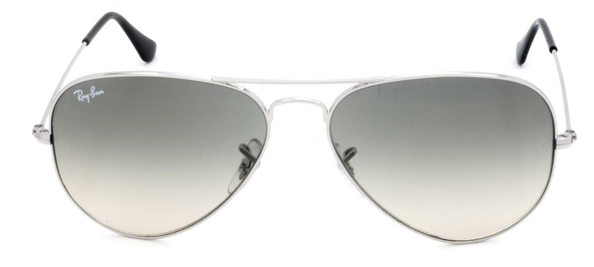 Óculos de Sol Ray-Ban Aviator RB 3025 Cinza Degradê e Prateado 58 3c11070387