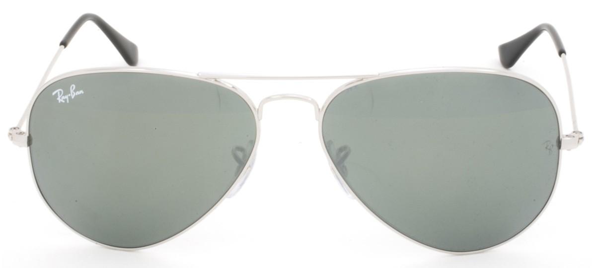 4d1f49438f67d ... promo code Óculos de sol ray ban aviator rb 3025 espelhada cinza prata  e prata 58