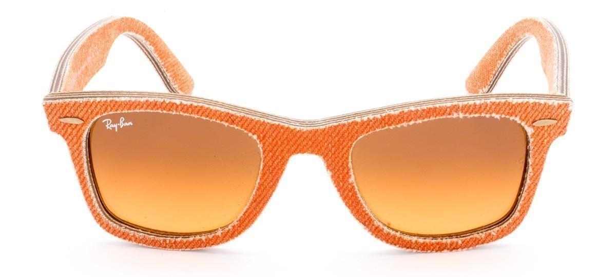 Óculos de Sol Ray-Ban Wayfarer RB 2140 Marrom e Laranja Degradê e Jeans  Laranja 50 f016a4d610