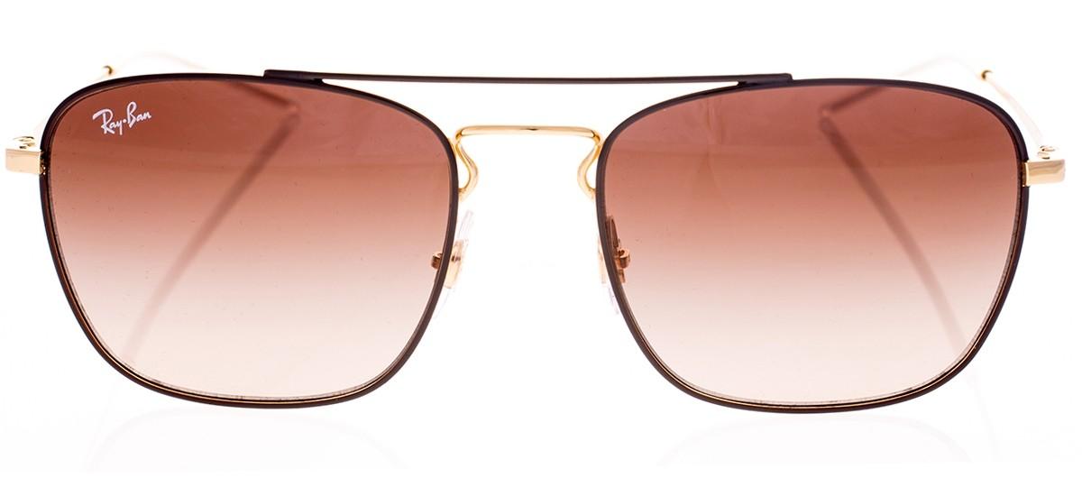 6029b576f6886 Óculos de Sol Ray-Ban Blaze Quadrado 3588 Marrom degradê com Dourado ...